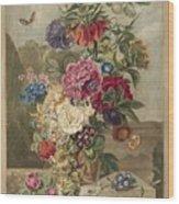 Flower Arrangement, Anthonie Van Den Bos, 1778 - 1838 B Wood Print