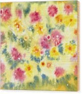 Flower Bed Wood Print