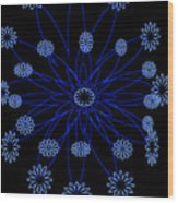 Flower Blue Wood Print