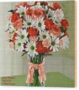 Flower Bouquet Creations Catus 1 No. 1 Wood Print