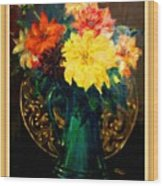 Bouquet For Mrs De Waldt H B With Decorative Ornate Printed Frame. Wood Print