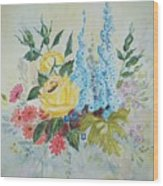 Flower Bouquet Wood Print