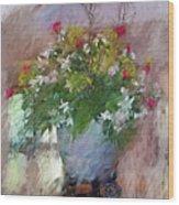 Flower Bowl Wood Print