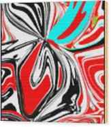 Flower Burst Of Color Wood Print