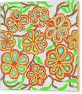 Flower Carnival Wood Print