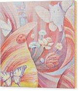 Flower City Wood Print