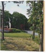 Flower Crane Wood Print