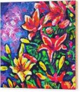 Flower Culture 297 Wood Print