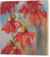 Flower Dance IIi Wood Print