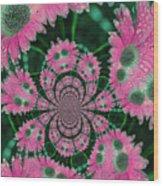 Flower Design Wood Print by Karol Livote