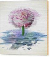 Flower Digital Art Wood Print