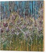 Flower Energy Wood Print