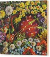 Flower Extravaganza Wood Print