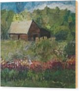 Flower Farm Wood Print
