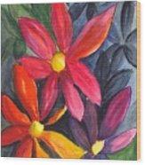 Flower Festival Wood Print