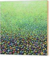 Flower Field Riot Wood Print