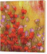 Flower Fields Of Summer Wood Print