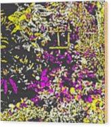 Flower Flood Wood Print