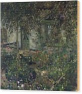 Flower Garden In Bloom Wood Print