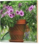 Flower Garden Pot Wood Print
