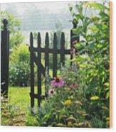 Flower Gate Wood Print