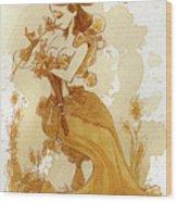 Flower Girl Wood Print by Brian Kesinger