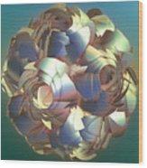 Flower Globe Wood Print