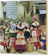 Flower Hmong Women 02 Wood Print