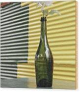 Flower In A Bottle Wood Print