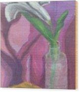 Flower In A Vase. Wood Print