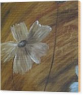 Flower In The Woods Wood Print