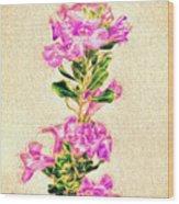 Flower-j Wood Print