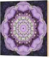 Flower Kaleidoscope 004 Wood Print