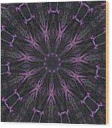 Flower Kaleidoscope Wood Print