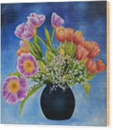 Flower Still Life Wood Print