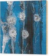 Flower Lineup Wood Print