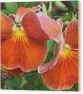 Flower Lips Wood Print