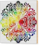 Flower Mandala 3 Wood Print