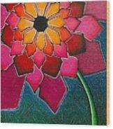 Flower Mandala-a Wood Print
