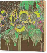 Flower Market Wood Print
