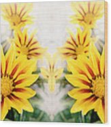 Flower Montage Wood Print