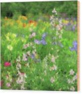 Flower Mosaic Wood Print