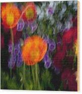 Flower Motion Wood Print
