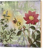 Flower-n Wood Print