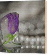 Flower Of Ice Wood Print