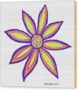 Flower Of Joy Wood Print