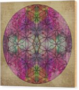 Flower Of Life Wood Print by Filippo B