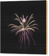 Flower Of Lights Wood Print