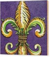 Flower Of New Orleans Lsu Wood Print