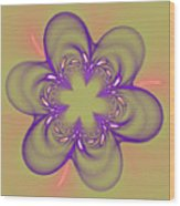 Flower Of Pink - Purple Wood Print